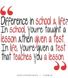 The difference between school and real life. by Lehte