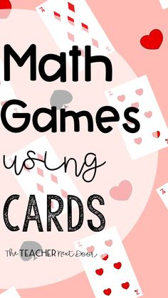 7 Math Games Using Playing Cards Math Test Games, 5th Grade Math Games, Free Math Games, Math Card Games, Graphing Activities, Math Task Cards, Fun Math, Class Activities, Multiplication Games
