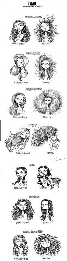 Bad hair days- Expectations vs Reality !