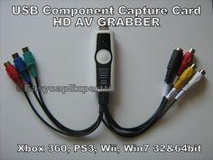 USB 2.0 YPbPr Component Video Capture Card HD AV Grabber