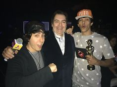 Castanhari e Cocielo com Faustão, parabéns Cocielo pelo prêmio de melhor vlog cômico... Merecidíssimo!