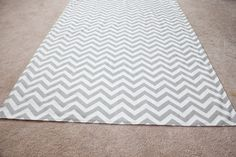 Gray and white chevron wedding aisle runner by CaysonDesigns, $89.99