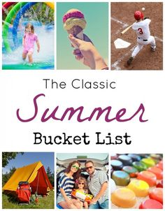 (Free Printable!!!) We all want summer to be a magical time for kids. Check out this classic summer bucket list for inspiration!