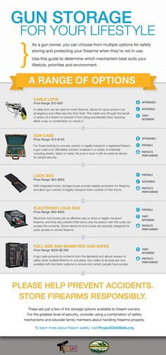 INFOGRAPHIC: A Range of Gun Storage Options For Your Lifestyle