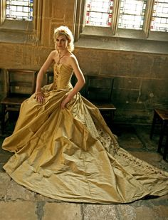 gold ball gown