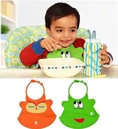 Waterproof Baby Bib Crumb Catcher Is Easy to Clean, Lightweight and Comfortable - Soft Silicone Bibs Keep Baby Happy and Tidy with Safe N' Friendly Neck Clasp - Buy Unique Designs by Noni Cuddles Now! Gadget Gifts, Child Development, Baby Bibs, Cute Designs, Catcher, Cuddling, Cute Babies, Meal Times, Nikon D3300