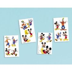 Amazon.com : Disney's Mickey Mouse & Friends Party Supplies Tattoos 16ct Sheet : Childrens Temporary Tattoos : Toys & Games