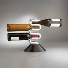 I love this unique and strikingly modern wine rack.
