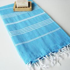 Carribean Blue Turkish Towels, Peshtemal Australian Turkish Towel, Fouta, Hammam towels $35