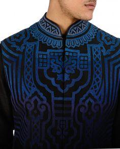 Resham Embroidered Black Waistcoat - Shop Men Tarun Tahiliani