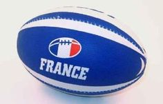"""Ballon Rugby France - 24""""W x 15""""H - Peel and Stick Wall Decal by Wallmonkeys,$40.99"""