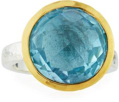 Gurhan Galapagos Bezel Ring in Blue Topaz, Size 7
