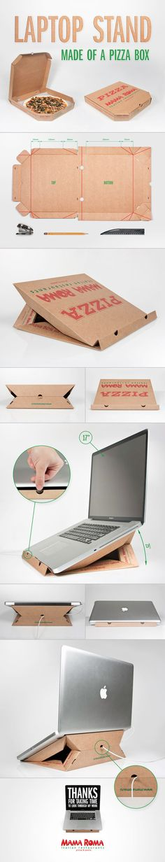 Laptop Stand Made of Pizza Box | I New Idea Homepage