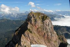Grosser Mythen, Switzerland...Climbed with my Swiss cousins in 2009. Incredibly beautiful. There is a little restaurant at the top where we had fondue!