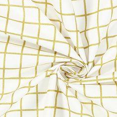 Behandlad bomull Guldrutnät | Rico Design
