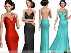 ekinege's Drape Neck Dress