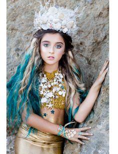 Sea Queen mermaid crown/tiara siren wedding by ScarletHarlow