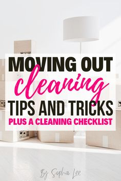 I am moving out this week and I was so happy to find this moving out cleaning guide!! This list literally covers everything, I couldn't have found a better post! Moving House Tips, Moving Tips, Moving Out, Moving Hacks, Move Out Cleaning, Clean Bedroom, Bathroom Cleaning Hacks, Cleaning Checklist, Simple