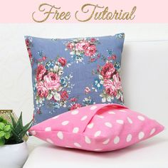 { How to Make Cushion Covers } DIY Envelope Covers in 10 Minutes Diy Cushion Covers, Cushion Cover Pattern, Cushion Tutorial, Pillow Tutorial, Envelope Cover, Diy Envelope, Diy Sewing Projects, Sewing Projects For Beginners, Sewing Hacks