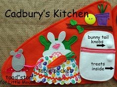 Home for a Bunny Easter QUIET BOOK .PDF Pattern by LindyJDesign