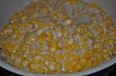 Crock-pot corn (skip the sugar and water and just add salt and pepper if you don't like it sweet)