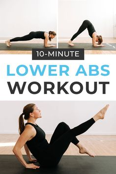 Tone your lower belly pooch with this home workout video - The Best Lower Ab Workout For Women! 10 bodyweight, lower abs exercises to do post-baby Flat Abs Workout, Abs Workout Video, Best Ab Workout, Abs Workout Routines, Fitness Workouts, Fitness Tips, Yoga Workouts, Fitness Gear, Workout Ideas