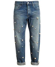 Comfort level? But, I do like them very much. TU ES MON TRESOR - Pearl Embellished Boyfriend Jeans