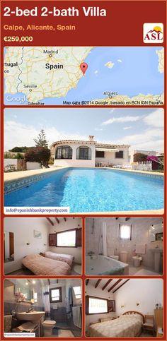 2-bed 2-bath Villa in Calpe, Alicante, Spain ►€259,000 #PropertyForSaleInSpain