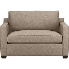 Davis Twin Sleeper Sofa in Sofas | Crate and Barrel...pumice