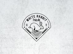 White Rabbit Pale Ale Vintage Logo