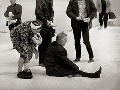 Jean-Paul Sartre e Simone de Beauvoir nas dunas de Nida. Lituânia, 1965. Antanas Sutkus.