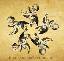 Ornate Star Tattoo Design by Justin by ~northgeorgiatattoos on deviantART