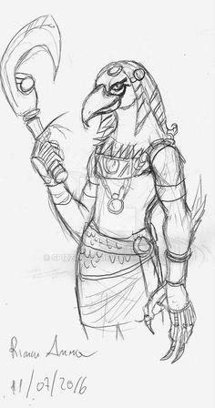 Sketches by train with the pen : P Planet Inb. A member of the race of Horus. perhaps an ancient warrior -------------------- Schizzi in treno con la penna Pianeta Inb. Un membro della razza degli Horus forse un antico guerriero