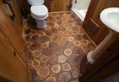 Visit www.floorskinz.com Cool floor for a log cabin or any rustic looking home!