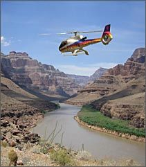 Grand Canyon by helicopter.   The GC is gorgeous, but the helicopter flying over ruin the quiet for the rest of us.
