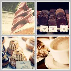 PARIS Collection Set di 4 Parigi stampe Ganache Cafe au Lait gelato Milles Feuilles, torta Parigi fotografia Piazza stampe, marrone, caramello