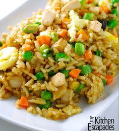 Best Chicken Fried Rice - My Kitchen Escapades
