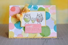 Sweet baby, stampin up, cards by carli, celebration catalouge, baby, we've grown, watercolour wonder