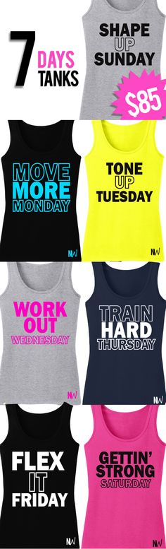 Working out is a Struggle, but getting ready for your #Workout doesn't have to be! WEEKS WORTH OF WORKOUT WARDROBE for only $85 including Shipping! By NoBull Woman Apparel, Click here to buy this super deal https://nobullwoman-apparel.com/collections/fitness-tanks-workout-shirts/products/7-days-7-tanks-deal
