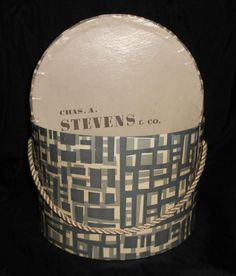 Vintage Ladies HAT BOX Chas A Stevens Chicago by pinkchicboutique, $19.99