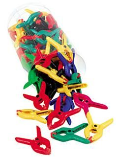 Bucket of 50 Mini Clamps