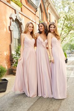 f709f8959a Style 5806 Hayley Paige Occasions bridesmaids dress - Dusty Rose Chiffon  A-line bridesmaid gown
