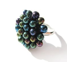 #Handmade Green #Peacock #ring by Kirameku on #Etsy