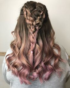 34 Cutest Prom Updos for 2019 - Easy Updo Hairstyles - Style My Hairs Easy Updo Hairstyles, Pretty Hairstyles, Undercolor Hair, Cornrow Braid Styles, Homecoming Hairstyles, Dye My Hair, Cool Hair Color, Pink Hair, Hair Trends