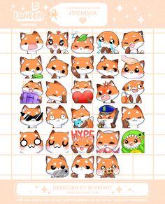 Kawaii Chibi, Kawaii Anime Girl, Twitch Streaming Setup, Discord Emotes, Easy Cartoon Drawings, Emoji Stickers, Simple Cartoon, Chibi Girl, Face Expressions