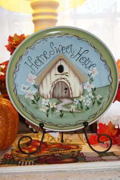 Hand Painted Home Sweet Home Cottage Plate by TracysCrtns on Etsy