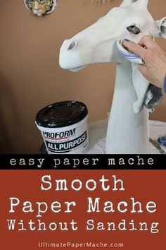 This method for smoothing paper mache clay (no sanding!) works with paper strips and paste, too. Be sure to watch the video to see how it's done. #sculpting #DIY