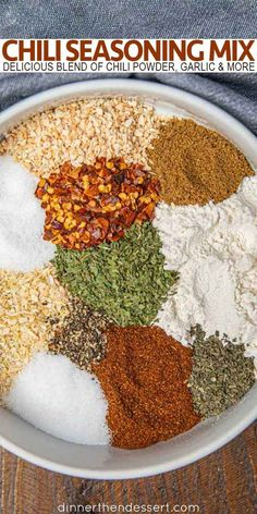 Chili Seasoning Mix - Dinner, then Dessert Homemade Chili Seasoning, Chili Seasoning Mix, Homemade Taco Seasoning, Chili Spice Mix Recipe, Seasoning Recipe, Homemade Spice Blends, Homemade Spices, Spice Mixes, Chili Spices
