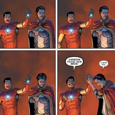 Tony Stark & Steven Strange -- The 30 Funniest Single Panels in Comic Book History