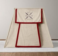 via BKLYN contessa :: recycled canvas pitch tent :: restoration hardware #child